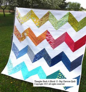 32 color BAB 12 Big Chev Quilt
